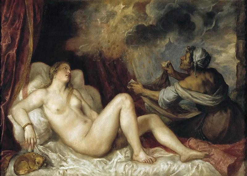 Dánae recibiendo la lluvia de oro. Titian (Tiziano Vecellio)