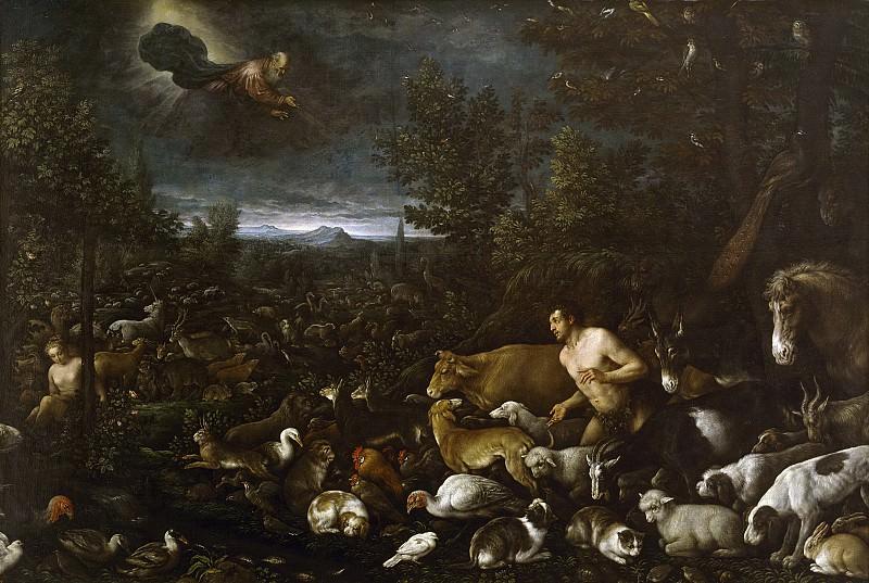 Bassano, Francesco; Bassano, Jacopo -- La reconvención a Adán. Part 1 Prado museum