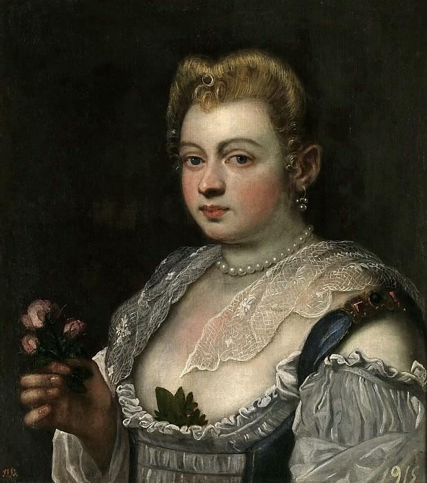 Тинторетто, Доменико -- Молодая венецианка. Часть 1 Музей Прадо