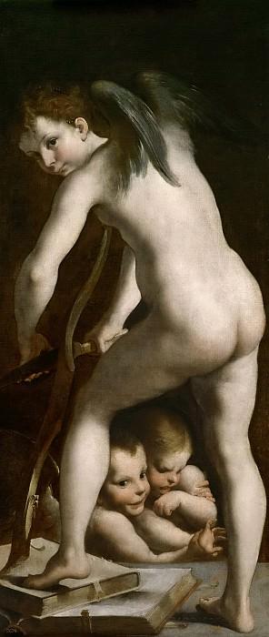 Parmigianino. Girolamo Francesco Maria Mazzola (Copia) -- Cupido. Part 1 Prado museum