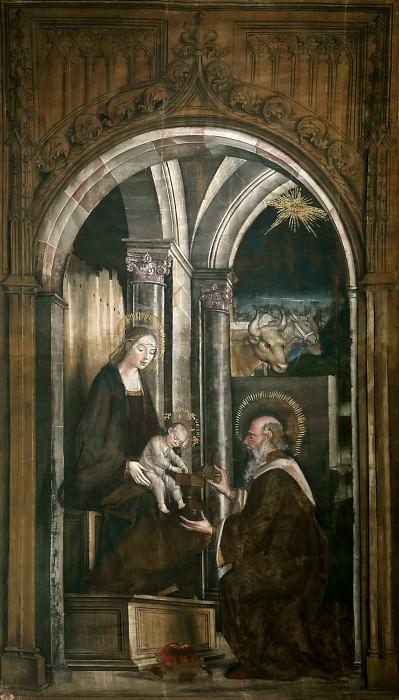 Berruguete, Pedro -- La Adoración de los Reyes Magos. Part 1 Prado museum