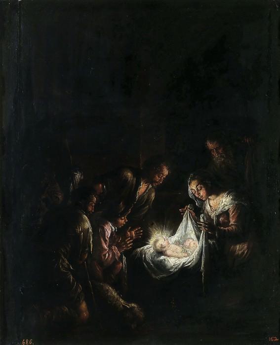 Bassano, Jacopo -- La Adoración de los pastores. Part 1 Prado museum