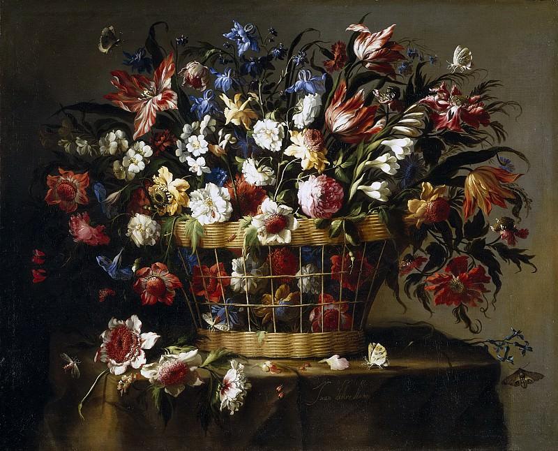 Arellano, Juan de -- Cesta de flores. Part 1 Prado museum