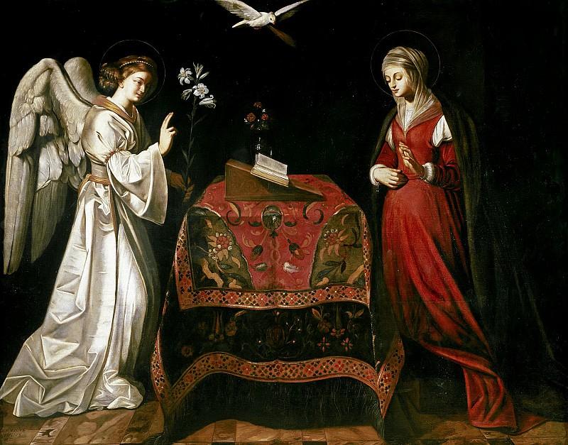 Finsonius, Ludovicus -- La Anunciación. Part 1 Prado museum