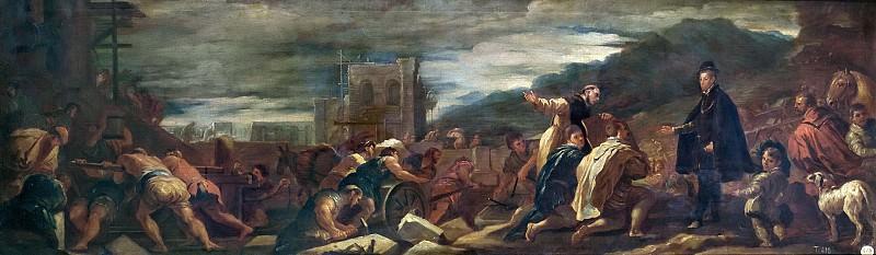 Джордано, Лука -- Филипп II с архитекторами проверяет работы в Эскориале. Часть 1 Музей Прадо
