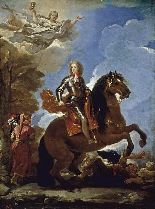 Giordano, Luca -- Carlos II, rey de España, a caballo. Part 1 Prado museum
