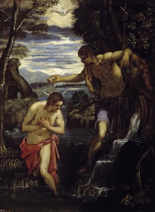 Тинторетто, Доменико -- Крещение Господне. Часть 1 Музей Прадо