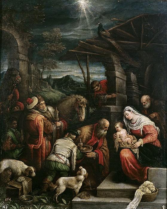 Bassano, Francesco -- La Adoración de los Reyes Magos. Part 1 Prado museum