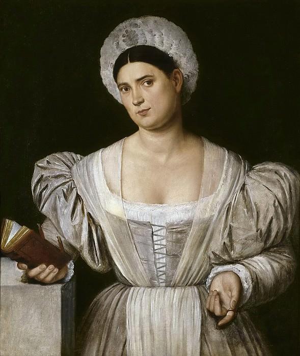 Licinio, Bernardino -- Retrato femenino (¿Agnese, cuñada del pintor?). Part 1 Prado museum