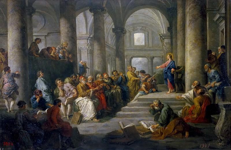 Panini, Giovanni Paolo -- Disputa de Jesús con los doctores. Part 1 Prado museum