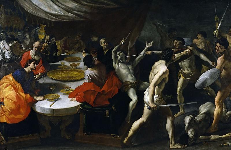 Lanfranco, Giovanni di Stefano -- Gladiadores en un banquete. Part 1 Prado museum