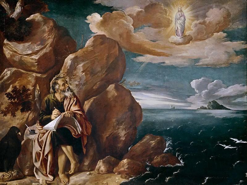 Orrente, Pedro de -- San Juan Evangelista en la isla de Patmos. Part 1 Prado museum