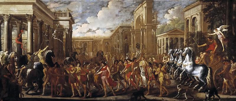 Codazzi, Viviano; Gargiulo, Domenico -- Entrada triunfal de Vespasiano en Roma. Part 1 Prado museum