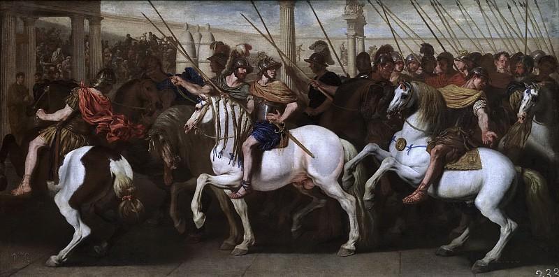 Falcone, Aniello -- Soldados romanos en el circo. Part 1 Prado museum