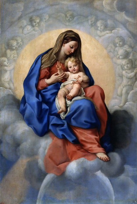 Maratti, Carlo -- La Virgen con el Niño en la Gloria. Part 1 Prado museum