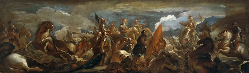 Джордано, Лука -- Пленение коннетабля Монморанси в битве при Сен-Кантене. Часть 1 Музей Прадо