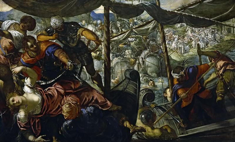 Tintoretto, Jacopo Robusti -- El rapto de Helena. Part 1 Prado museum