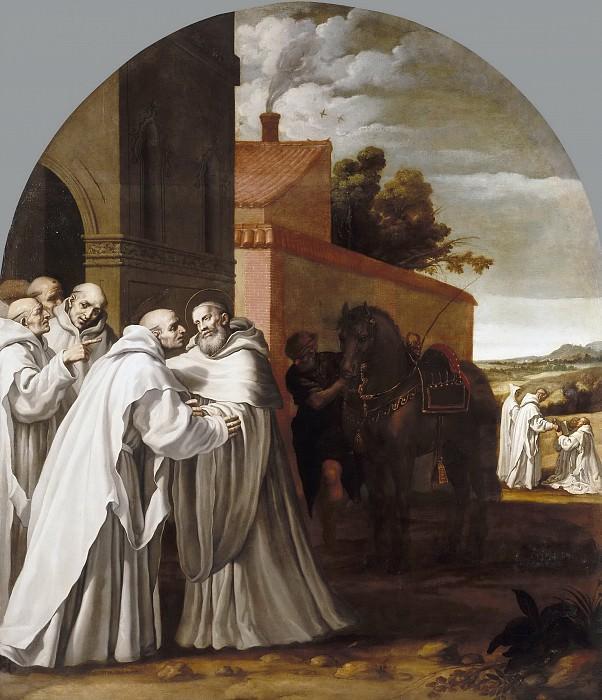 Carducho, Vicente -- San Bernardo de Claraval visita a Guigo I en la cartuja. Part 1 Prado museum