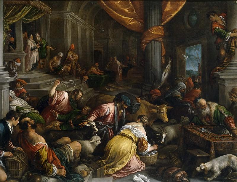 Bassano, Francesco -- Expulsión de los mercaderes del Templo. Part 1 Prado museum