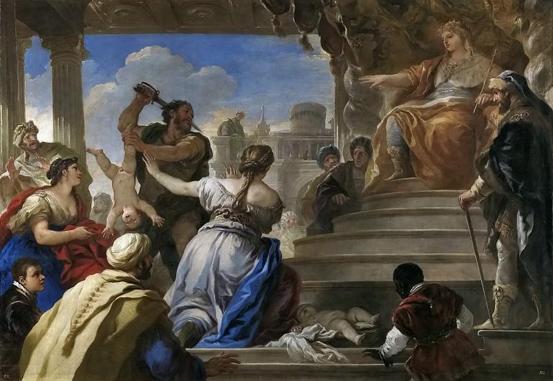 Giordano, Luca -- El juicio de Salomón. Part 1 Prado museum