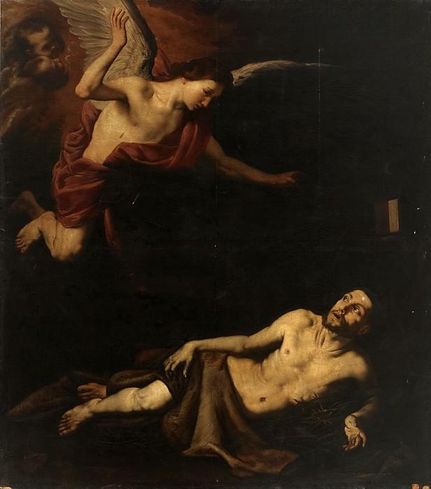 Аноним -- Святой Франциск Ассизский и ангел (копия Риберы). Часть 1 Музей Прадо