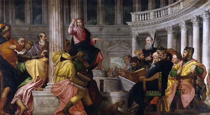 Veronese, Paolo -- La disputa con los doctores en el Templo. Part 1 Prado museum