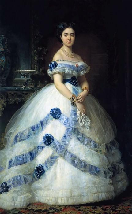Madrazo y Kuntz, Federico de -- Isabel Álvarez Montes, II duquesa de Castro Enríquez y II marquesa de Valderas. Part 1 Prado museum