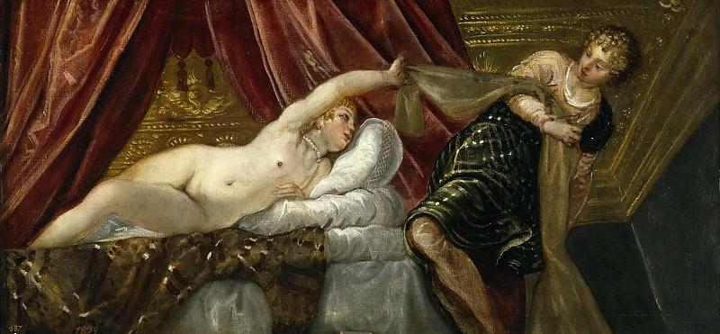 Tintoretto, Jacopo Robusti -- José y la mujer de Putifar. Part 1 Prado museum