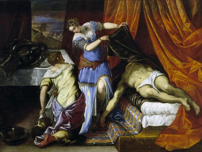 Tintoretto, Jacopo Robusti -- Judit y Holofernes. Part 1 Prado museum