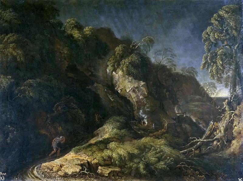 Dughet, Gaspard -- El huracán. Part 1 Prado museum