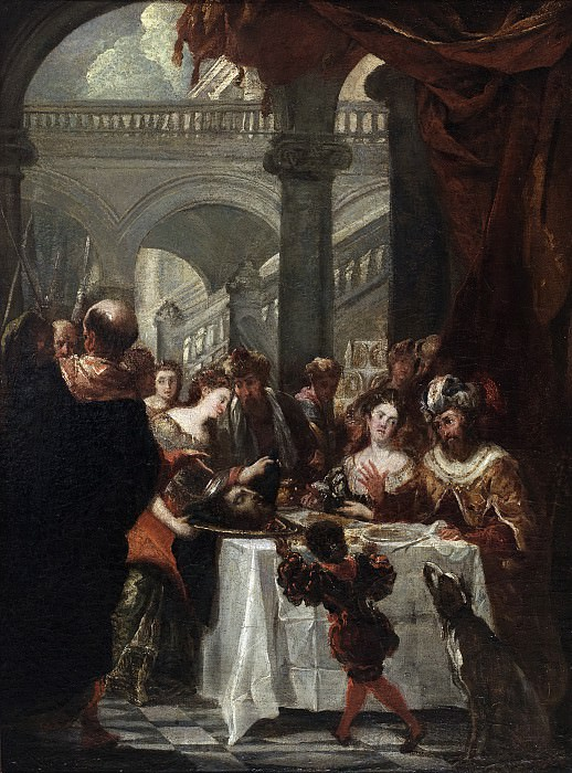 Carreño de Miranda, Juan -- El festín de Herodes (boceto). Part 1 Prado museum