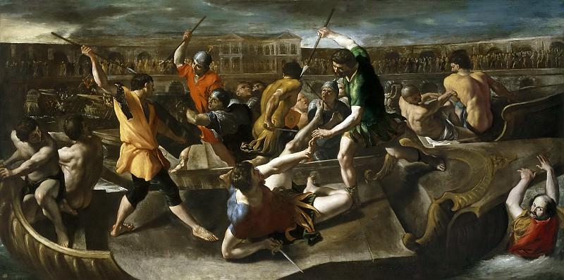 Lanfranco, Giovanni di Stefano -- Naumaquia romana. Part 1 Prado museum