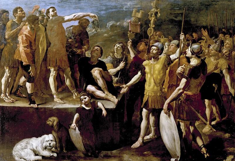 Ланфранко, Джованни ди Стефано -- Речь римского императора. Часть 1 Музей Прадо
