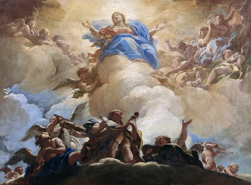 Giordano, Luca -- Asunción de la Virgen. Part 1 Prado museum