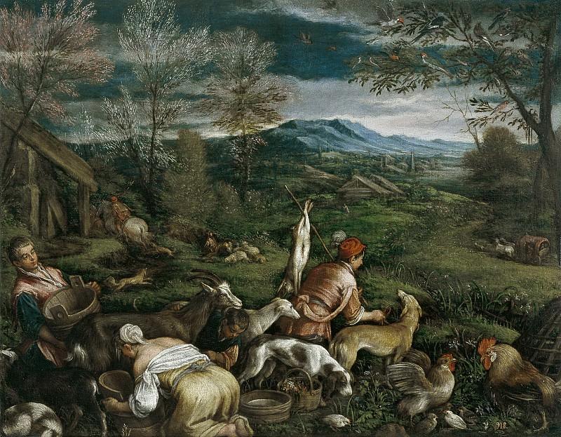 Anónimo (Taller de Bassano) -- La Primavera. Part 1 Prado museum