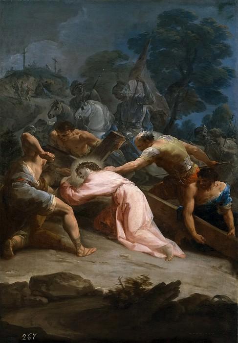 Giaquinto, Corrado -- Cristo camino del Calvario. Part 1 Prado museum