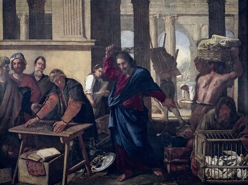 Falcone, Aniello -- La Expulsión de los mercaderes del Templo. Part 1 Prado museum