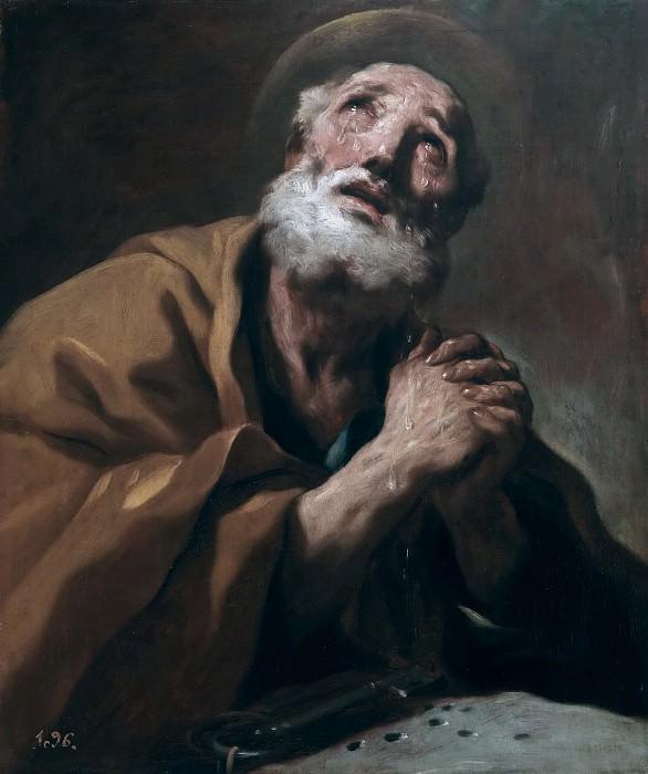 Giordano, Luca -- San Pedro arrepentido, o Las lágrimas de San Pedro. Part 1 Prado museum