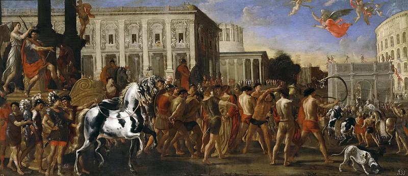 Codazzi, Viviano; Gargiulo, Domenico -- Entrada triunfal de Constantino en Roma. Part 1 Prado museum