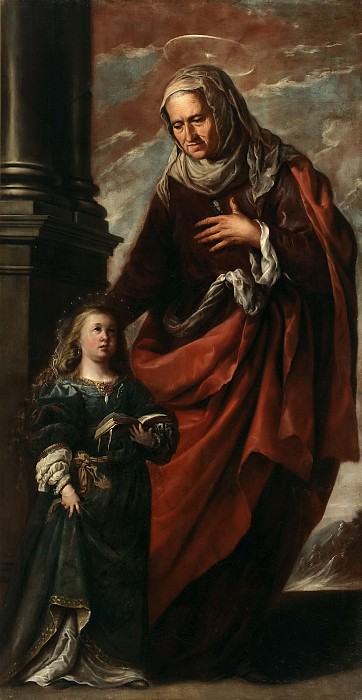 Camilo, Francisco (Atribuido a) -- Santa Ana conduciendo a la Virgen. Part 1 Prado museum