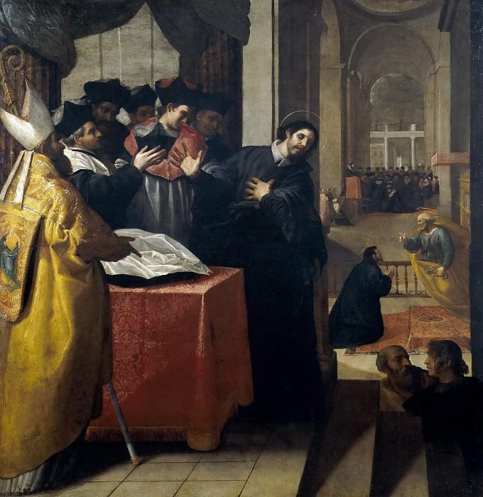 Carducho, Vicente -- San Juan de Mata renuncia al doctorado y lo acepta luego por inspiración divina. Part 1 Prado museum