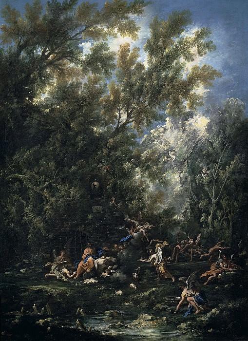 Алессандро Маньяско и Антонио Франческо Перуццини -- Христу прислуживают ангелы. Часть 1 Музей Прадо