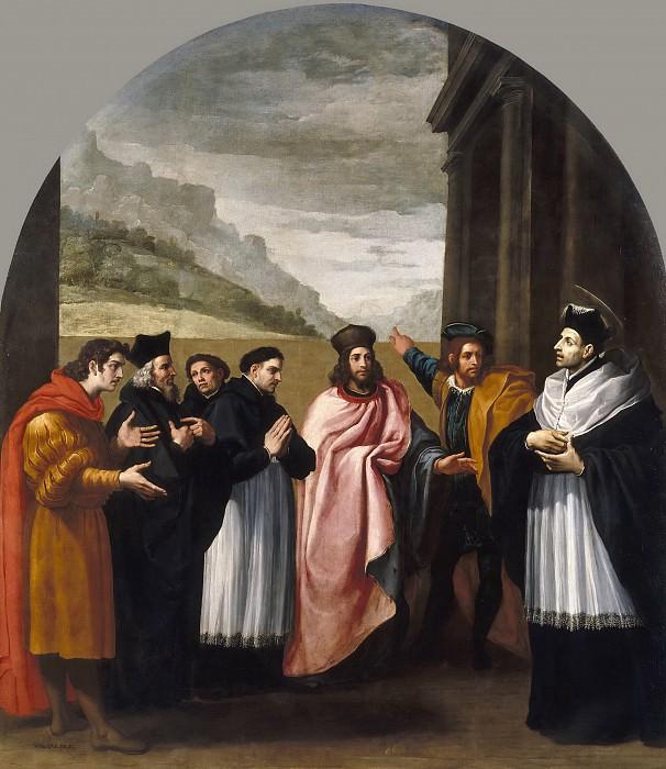 Кардучо, Висенте -- Св Бруно с шестью сподвижниками решают уйти из мира в отшельничество. Часть 1 Музей Прадо