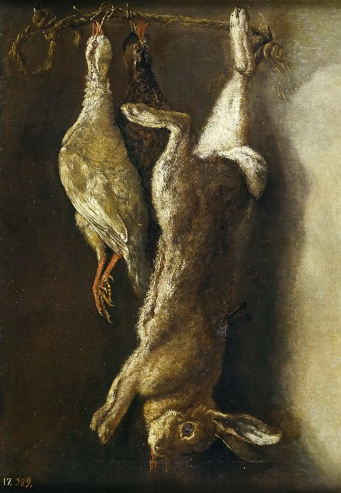 Nani, Mariano -- Bodegón de caza: una liebre y dos perdices. Part 1 Prado museum