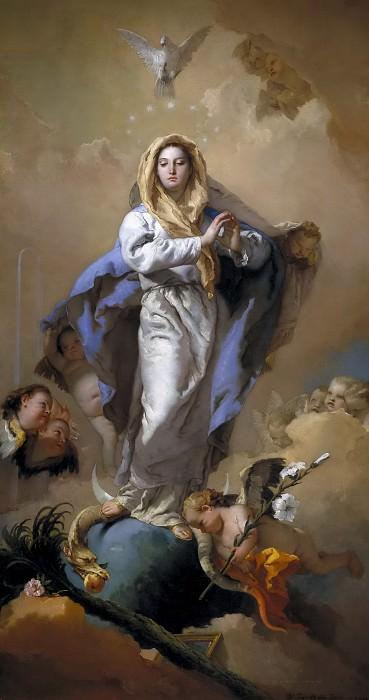 Tiepolo, Giambattista -- La Inmaculada Concepción. Part 1 Prado museum