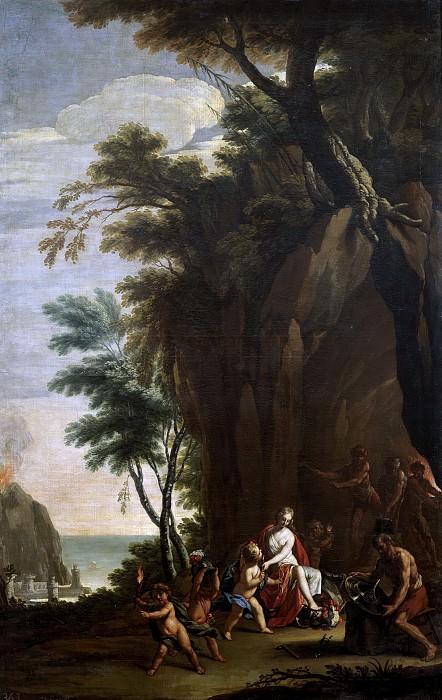 Palomino y Velasco, Acisclo Antonio -- Alegoría del Fuego. Part 1 Prado museum