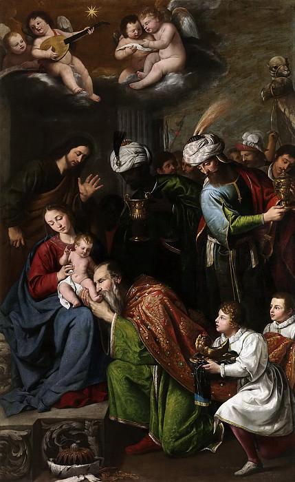 Núñez del Valle, Pedro -- La Adoración de los Reyes Magos. Part 1 Prado museum