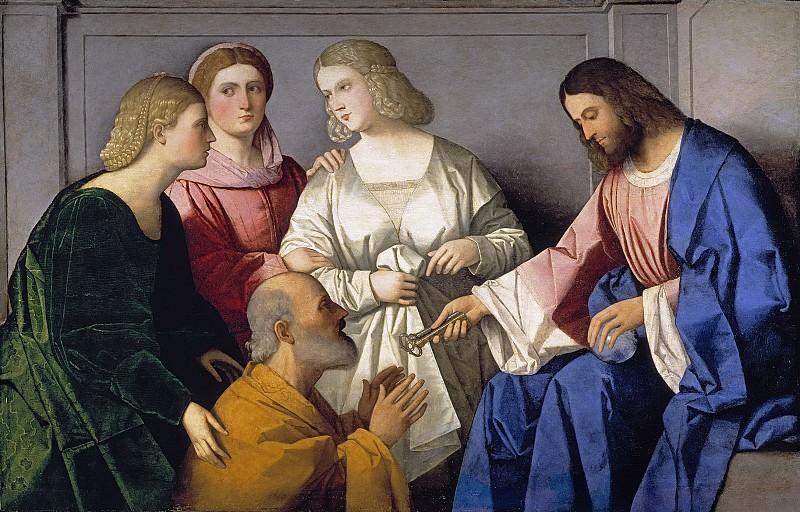 Catena, Vincenzo -- Cristo entregando las llaves a San Pedro. Part 1 Prado museum