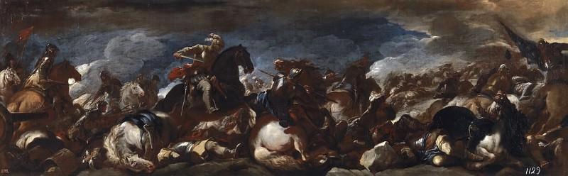 Giordano, Luca -- Batalla de San Quintín. Part 1 Prado museum