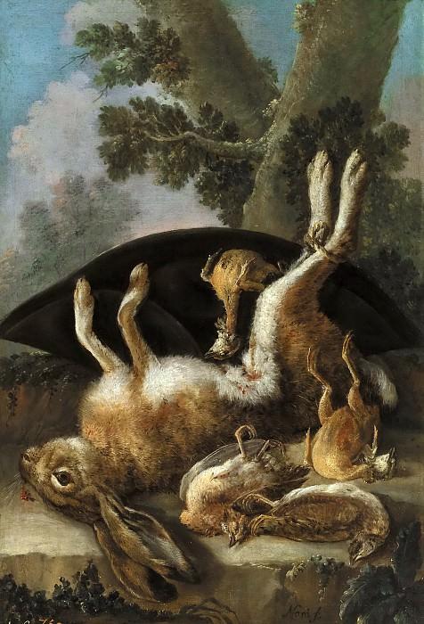 Нани, Мариано -- Охотничий натюрморт с зайцем и птицами. Часть 1 Музей Прадо